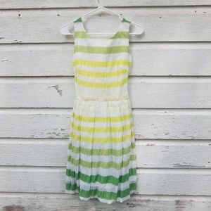 NEW Sara Campbell Stripe Green Fit and Flare Dress
